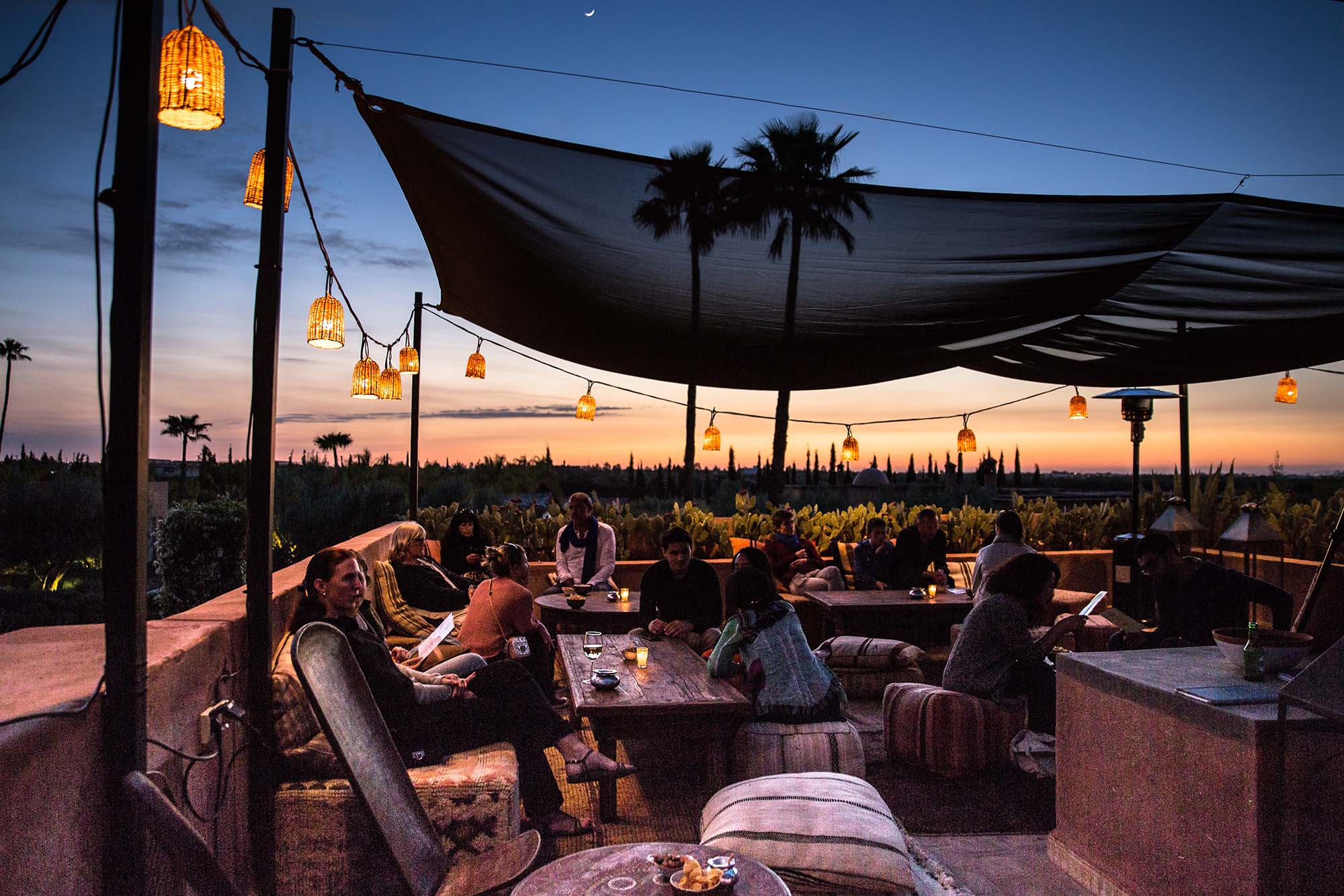 Restaurant Rooftop Maison Hotes Marrakech THE SOURCE Slide 3